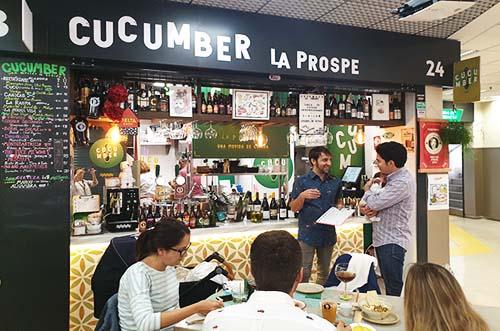 cucumber la prospe - comer en madrid - comer en barrio de prosperidad - catas maridadas madrid